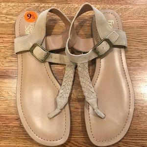 franco sarto braided sandals